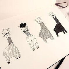 Alpaca! #drawing #doodling #sketchbook #alpaca #moleskine