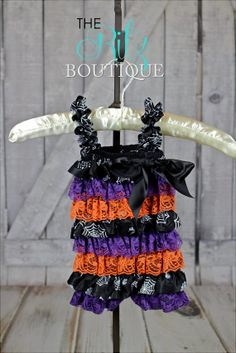 HALLOWEEN lace petti romper, lace romper, photo prop, birthday outfit, romper