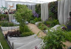 Fabric formed concrete at RHS Chelsea Flower Show   Fabric Formed Concrete
