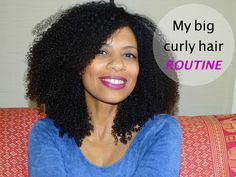 Want to know how I achieve my big curly hair? Watch my routine on my YouTube channel. https://www.youtube.com/watch?v=5MTbb7ctAk8