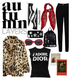 """""""90's style"""" by martuuchhh ❤ liked on Polyvore featuring EAST, Vans, Christian Dior, Yves Saint Laurent and Moschino"""