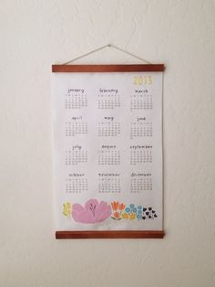 2013 Floral Calendar. $20 by Lisa Rupp on @Etsy