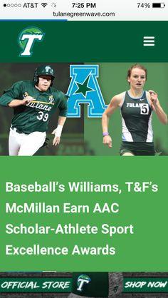 e8d06bfb88f8e Tulane and AAC scholar athlete! Go Hunter!