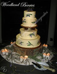 woodland theme wedding cake | pin unforgettable themed birthday by cakeink on a cake with creative