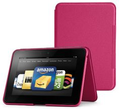 Amazon Kindle Fire HD 89 Standing Leather Case Fuchsia will not fit HDX models -- Find out more by clicking the image