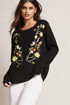 Find your favorite sweater & cardigan styles at Forever Cozy up in our oversized knits with classic crochet cardigans, ribbed sweater dresses, velvet sweatshirts, chenille tops & more! Oversized Cardigan, Ribbed Sweater, Floral Sweater, Cardigan Fashion, Fashion Essentials, Sweaters For Women, Women's Sweaters, Cardigans, Latest Trends