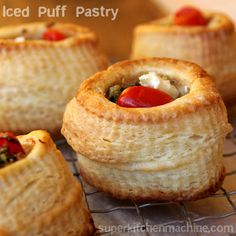 Ice, butter and flour combine easily in a Thermomix kitchen machine for fun and fast puff pastry on a whim. Vol Au Vent, Cooking Chef, Cooking Recipes, Quiche, Rough Puff Pastry, Thermomix Bread, Puff Pastry Recipes, Pastries Recipes, Savoury Baking