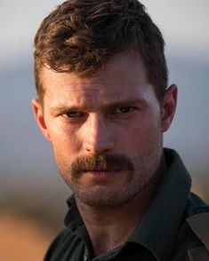 "Jamie Dornan's irresitibly sexy moustache in ""The Siege Of Jadotville"" Mustache Styles, Beard No Mustache, Christian Grey, Mr Grey, Dakota Johnson, Gorgeous Men, Actors & Actresses, Sexy Men, Instagram"