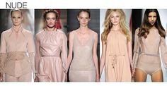 SS13 Fashion Color Trends Nude