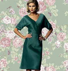 B5851--Butterick pattern for a bias-cut dress that could be modified to make a Claire McCardell-inspired dress.