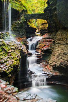 Waterfall in Watkins Glen State Park, New York