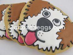 dog cookie Cat Cookies, Iced Sugar Cookies, Cut Out Cookies, No Bake Cookies, Cookie Pops, Cookie Frosting, Cookie Designs, Cookie Ideas, Cookie Factory
