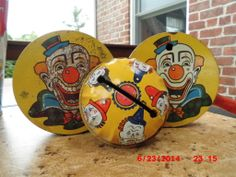 These vintage noise makers were in one of the buckets, I tried to haggle on the price by offering them back but they were a package deal...I did get my price in the end.