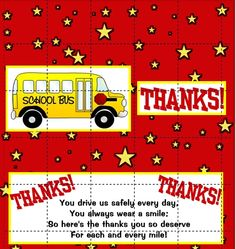 bus driver appreciation card print just bcause