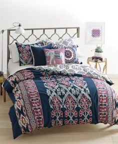 CLOSEOUT! Whim by Martha Stewart Collection Wild Child Reversible 3-Pc. Full/Queen Comforter Set, Cotton/Linen, Only at Macy's   macys.com