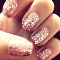Sparkly nails! #essie #nails #sparkly #glitter