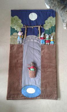 I present my latest creation: the PLOUF carpet! from Philippe Corentin's album. Silent Book, Sensory Table, Kindergarten, Diy For Kids, Fiber Art, Christmas Stockings, Album, Fairy Tales, Philippe Corentin