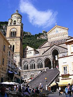 The Cathedral of St. Andrew, Amalfi (I've been there,   boat trip from Salerno)