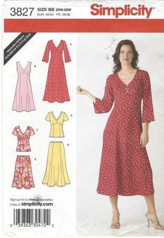 Plus Size Womens één of twee stuk jurk Empire door CloesCloset