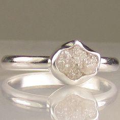 natural uncut diamond.. i love this