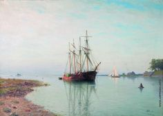 Lev Lagorio - Ships near the coast (1901)