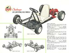 Much better than the original, this 1960 Simplex reprint is perfect for matting and framing. The Challenger Mk III and MK IVs were manufactured by Simplex Mfg. Vintage Go Karts, Go Kart Plans, Go Kart Racing, Super Cool Stuff, Futuristic Cars, Karting, Mini Bike, Tecno, Tricycle