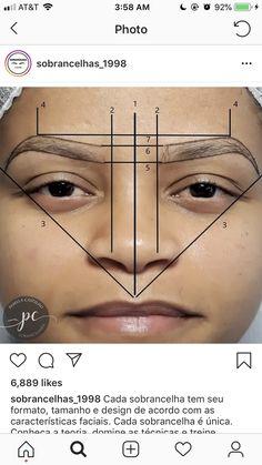Eyebrow Makeup Tips, Permanent Makeup Eyebrows, Semi Permanent Makeup, Skin Makeup, Beauty Makeup, Eyebrows Sketch, Mircoblading Eyebrows, How To Shape Eyebrows, Threading Eyebrows