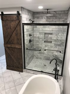 Rustic bathrooms 549228117057814517 - Master Bathroom Remodel : Designs, Tips, & Details Source by ashleywinndesign Bathroom Renos, Bathroom Renovations, Home Remodeling, Bathroom Showers, Shower Ideas Bathroom, Bathroom Cabinets, White Bathroom, Barn Bathroom, Basement Bathroom
