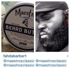 @fahdabarber1 Welcome Philly Barber and Fit Maestro! Thanks for being undeniably good at spreading the news about Maestro's Classic beard care. We appreciate you. Philly Barber Maestro Salute