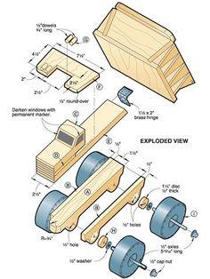 Woodwork Wood Truck Plan PDF Plans