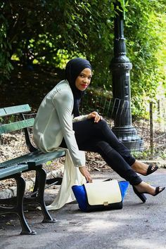 Hijab outfit idea Modest Dresses Casual, Modest Wear, Muslim Hijab, Muslim Dress, Muslim Girls, Muslim Women, Modest Fashion, Unique Fashion, Hijab Fashion Inspiration