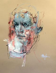 Portrait Drawings and Watercolors at Cian McLoughlin - Orla 2 Abstract Portrait, Watercolor Portraits, Portrait Art, Watercolor Paintings, Watercolor Art Face, Figure Painting, Painting & Drawing, Kunst Online, Pastel Portraits
