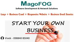 Contact us for your Own business startup plan. We are providing Logo design, Visiting card, Responsive website and Email hosting service for Small business companies & Home based entrepreneurs.