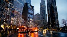 Preview wallpaper city, night, buildings, sky 3840x2160