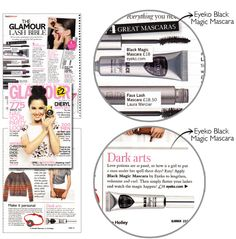 "#GLAMOUR DARK ARTS / GLAMOUR LASH BIBLE ""Love potions are so passe, so how is a girl to put a man under her spell these days? Easy! Apply Black Magic Mascara by #Eyeko to lengthen, volumise and curl. Then simply flutter your lashes and watch the magic happen."""