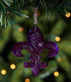 Purple fleur-de-lis