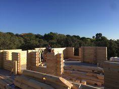 construccin casa de troncos con madera kuusamo para una vivienda de xmadera en la moraleja