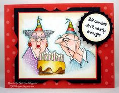 Art Impressions Stamps: Birthday Couple (Sku#T1920) ive never seen old ppl stamps!! LOL thats cute!