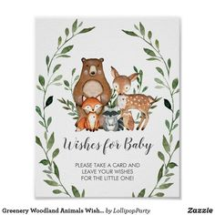 Shop Woodland Animals Greenery Baby Shower Welcome Sign created by LollipopParty. Baby Shower Welcome Sign, Baby Shower Thank You, Forest Animals, Woodland Animals, Welcome Poster, Wishes For Baby, Woodland Baby, Woodland Forest, Baby Shower Parties