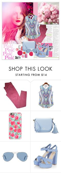 """""""SheIn blouse ♥"""" by av-anul ❤ liked on Polyvore featuring Clinique, Levi's, Casetify, Kate Spade, Ray-Ban, shein and avanul"""