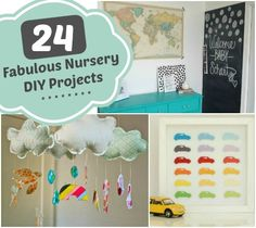 24 Fabulous Nursery DIY Projects #DIY #kids #nursery #ideas #inspiration