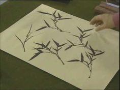 Brush painting for beginners - bamboo leaves 1