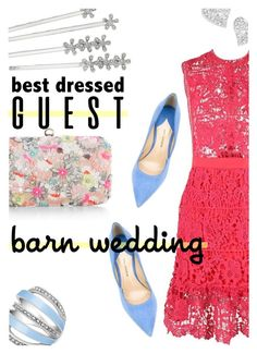 """""""Best Dressed Guest: Barn Weddings"""" by stacey-lynne on Polyvore featuring Paul Andrew, Accessorize, Lauren Ralph Lauren, GUESS and Vivienne Westwood"""