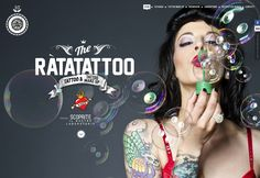 Ràtatattoo: Parallax scrolling site  http://www.webdesignerdepot.com/