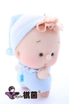 DIY材料包---糖果娃娃《B1-3 藍寶貝》中英版 | 棋茵DIY手工藝網