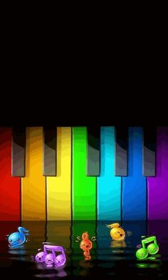here is a pic of my piano Love Rainbow, Taste The Rainbow, Over The Rainbow, Rainbow Colors, Rainbow Magic, Rainbow Stuff, Musica Love, Wall Colors, Colours