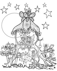 Fairy Coloring Pages For Adults | Click on the image to know more about this fabulous fairy costume!
