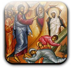 """St. Lazarus, the friend of Jesus, the brother of Martha and Mary, was the one of whom the Jews said, """"See how much he loved him."""" In their sight Jesus raised his friend Lazarus from the dead."""
