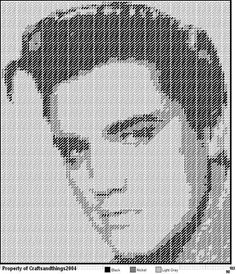 ELVIS LITHOGRAPH by CRAFTSANDTHINGS2004 - WALL HANGING
