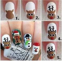 Step by step reindeer pictorial